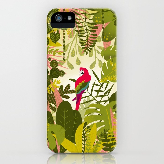 téléphone illustration Perroquet jungle Clemzillu