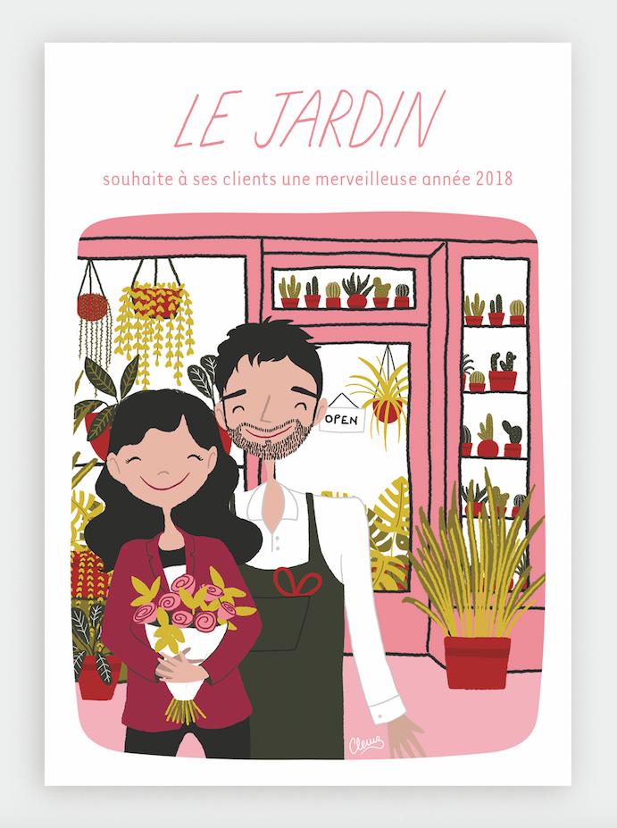 illustration Lyon commerçant