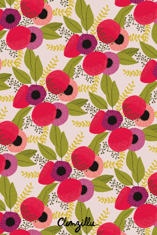 motif bouquet pattern textile design