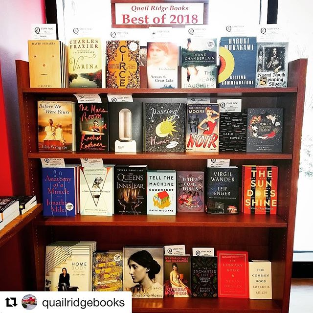 Thanks, @quailridgebooks! ・・・ #Repost @quailridgebooks with @get_repost ・・・ This is just a selection of our staff's picks for the #bestbooksof2018! #bestof2018