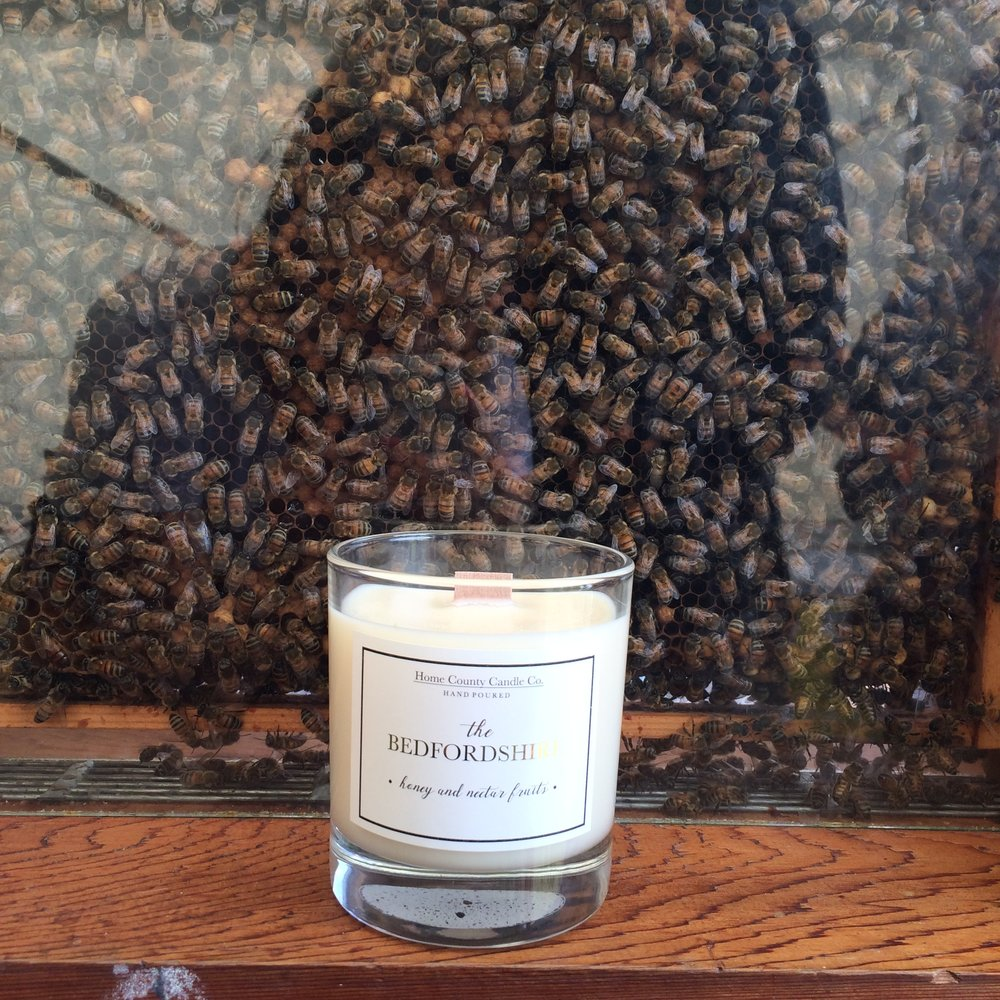 Inspired by… - Our 'Bedfordshire' is beautifully scented with Honey and Nectar Fruits, a natural sweet essence of spring golden honeycomb, a true sticky and rich honey aroma. My Grandad has kept bees in the garden of his Bedfordshire bungalow for as long as I can remember, and we can never leave his house without a jar of golden honey to take home with us, so when it came to creating our Bedfordshire scent the decision was easy – and it smells good enough to eat!