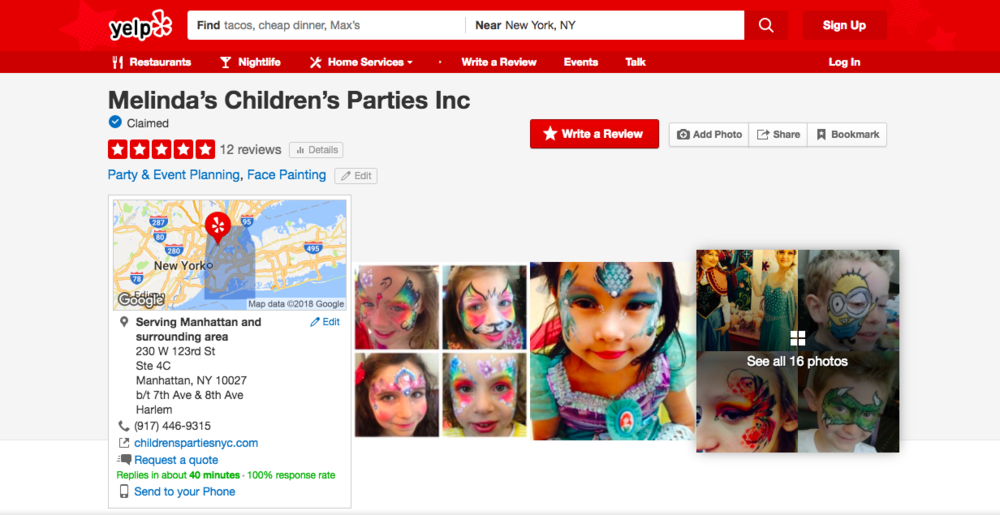 Melindas Childrens Parties on yelp.png