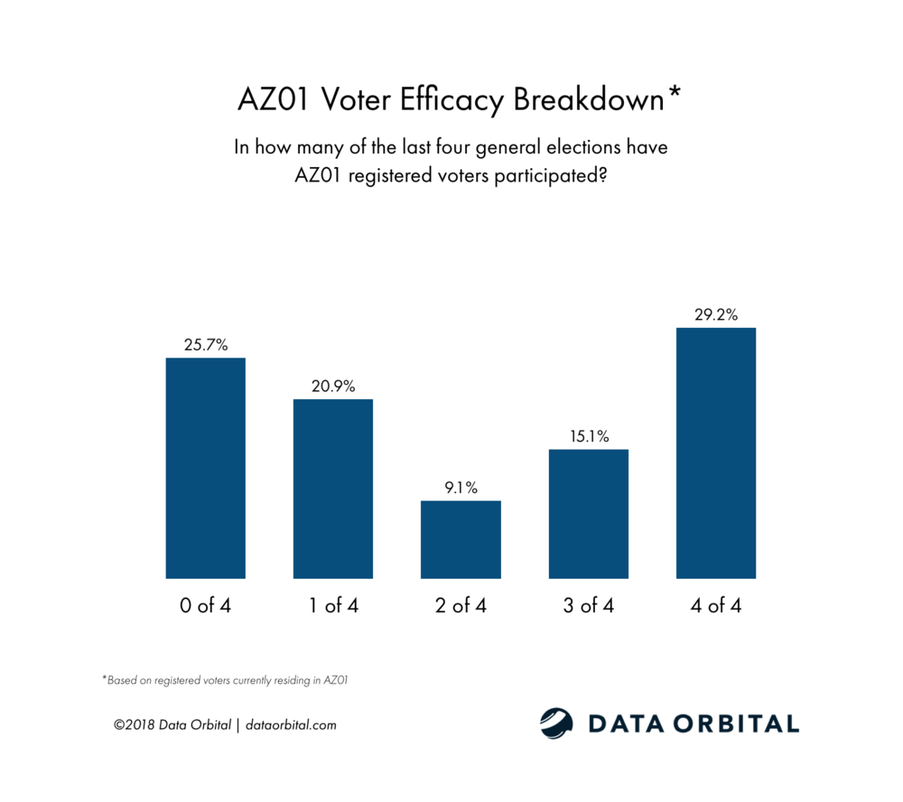 AZ01 District Profile Voter Efficacy Breakdown