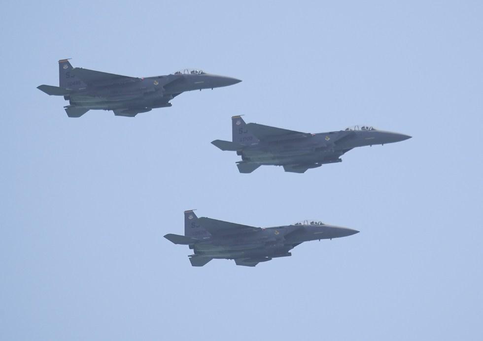 A Tactical Vee of F-15s Leader Wingman Wingman (Intercept Energy Angles)
