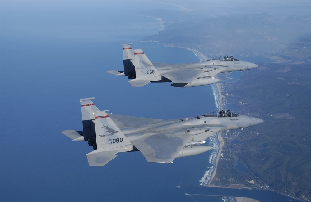 Two Ship F-15 Section Leader Wingman (Energy Angles)