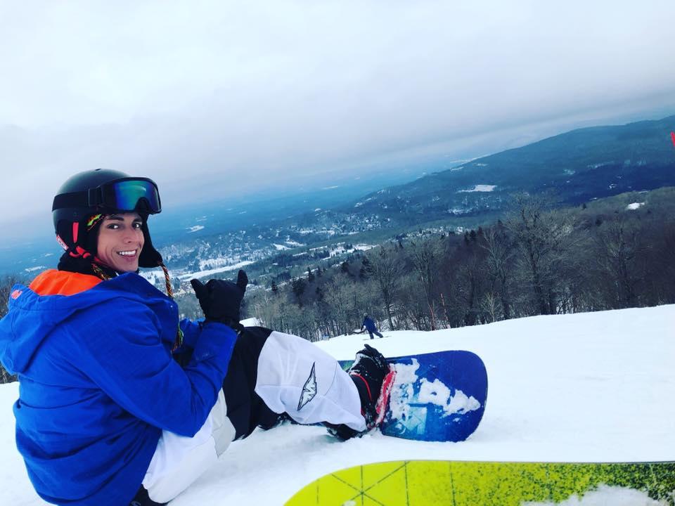 Nick snowboarding in Vermont