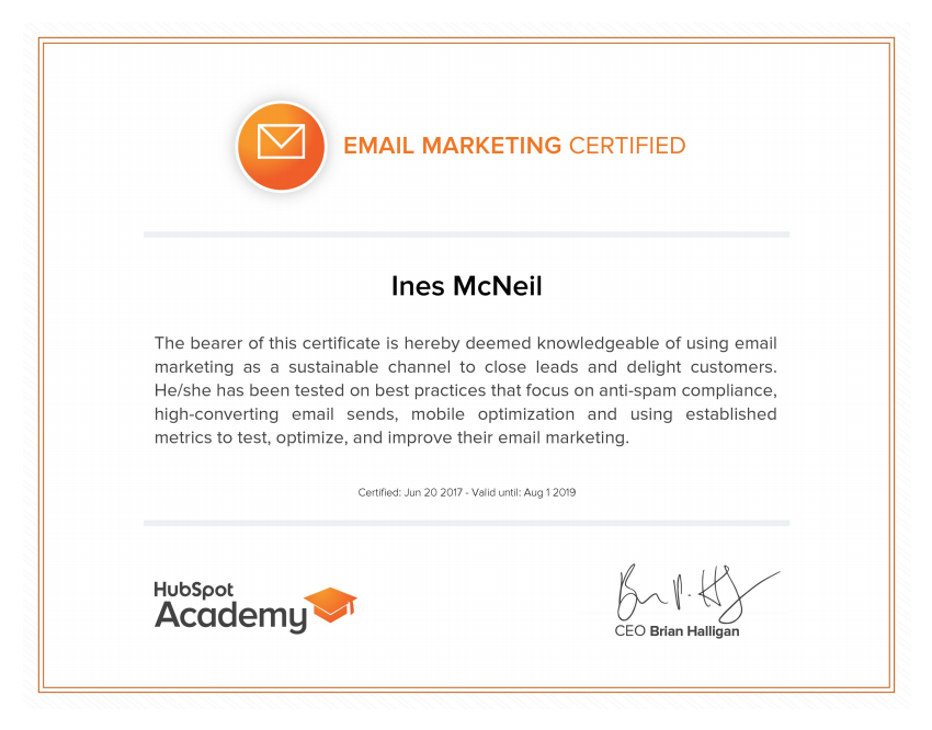 InesMcNeil - Email Marketing Certification.png