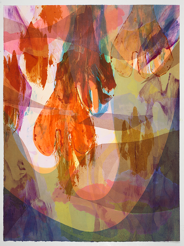 Untitled (IV) , 2014 Monotype with chine collé Image & Paper: 29 x 21 inches Series of 15