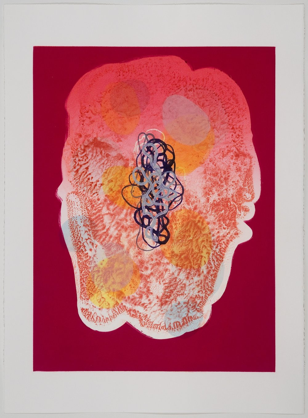 Untitled (IV) , 2010 Monotype Image Size: 18 x 26 inches Paper Size: 22 x 30 inches Series of 6