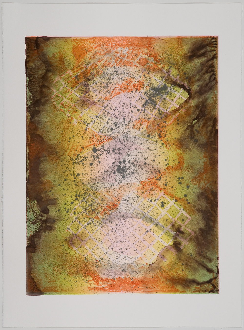 Untitled (V) , 2010 Monotype Image Size: 18 x 26 inches Paper Size: 22 x 30 inches Series of 6