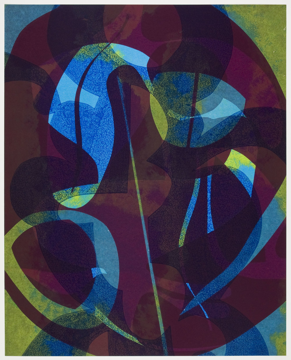 Untitled (VIII) , 2012 Monotype Image & Paper: 29 x 21 inches