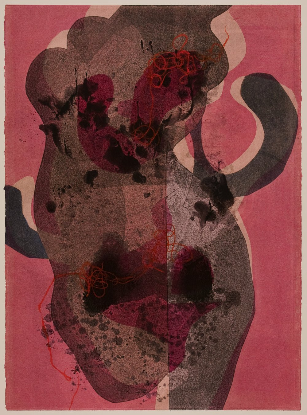 Untitled (XI) , 2012 Monotype Image & Paper: 29 x 21 inches