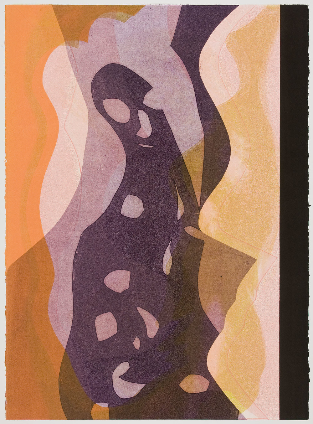 Untitled (XVI) , 2012 Monotype Image & Paper: 29 x 21 inches
