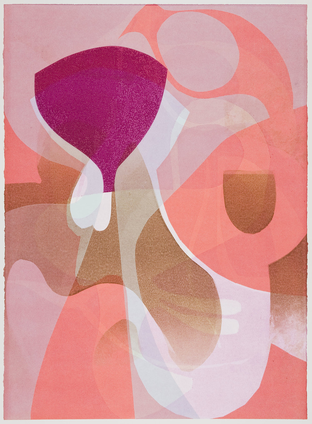 Untitled (XVII) , 2012 Monotype Image & Paper: 29 x 21 inches