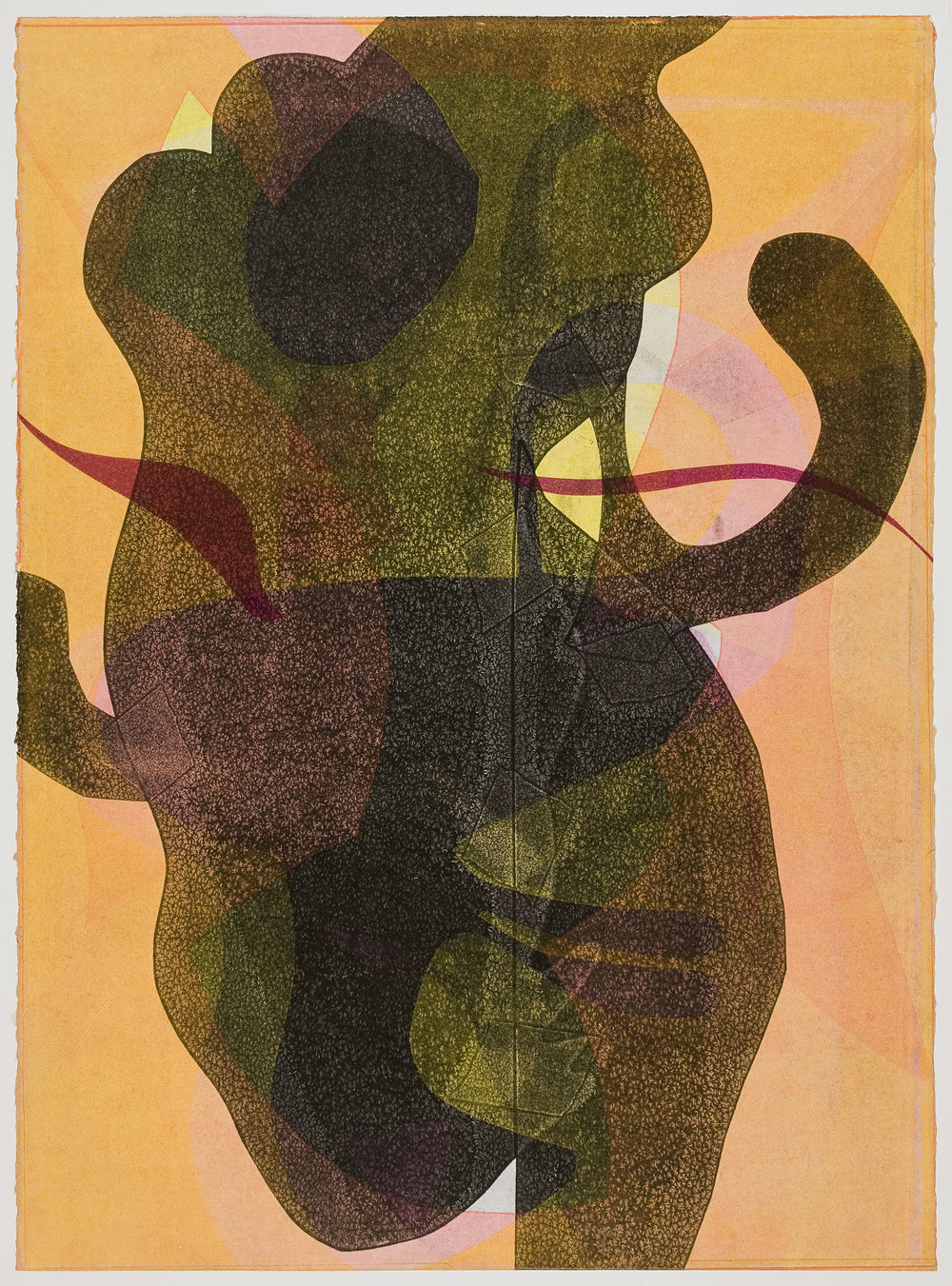 Untitled (XVIII) , 2012 Monotype Image & Paper: 29 x 21 inches