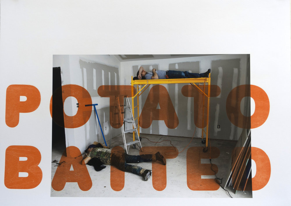 Potato Baited , 2013 Archival ink jet with wood letters Image & Paper: 33 x 24 inches Unique
