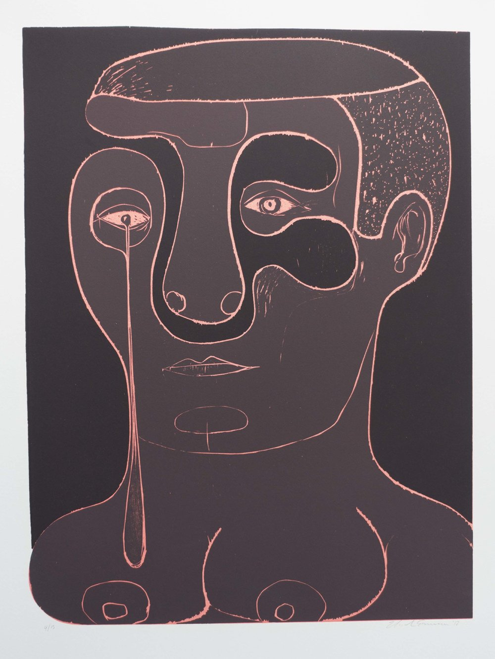 Untitled , 2012 Woodcut Image size: 24.25 x 18.25 inches Paper size: 30 x 22 inches Edition of 15