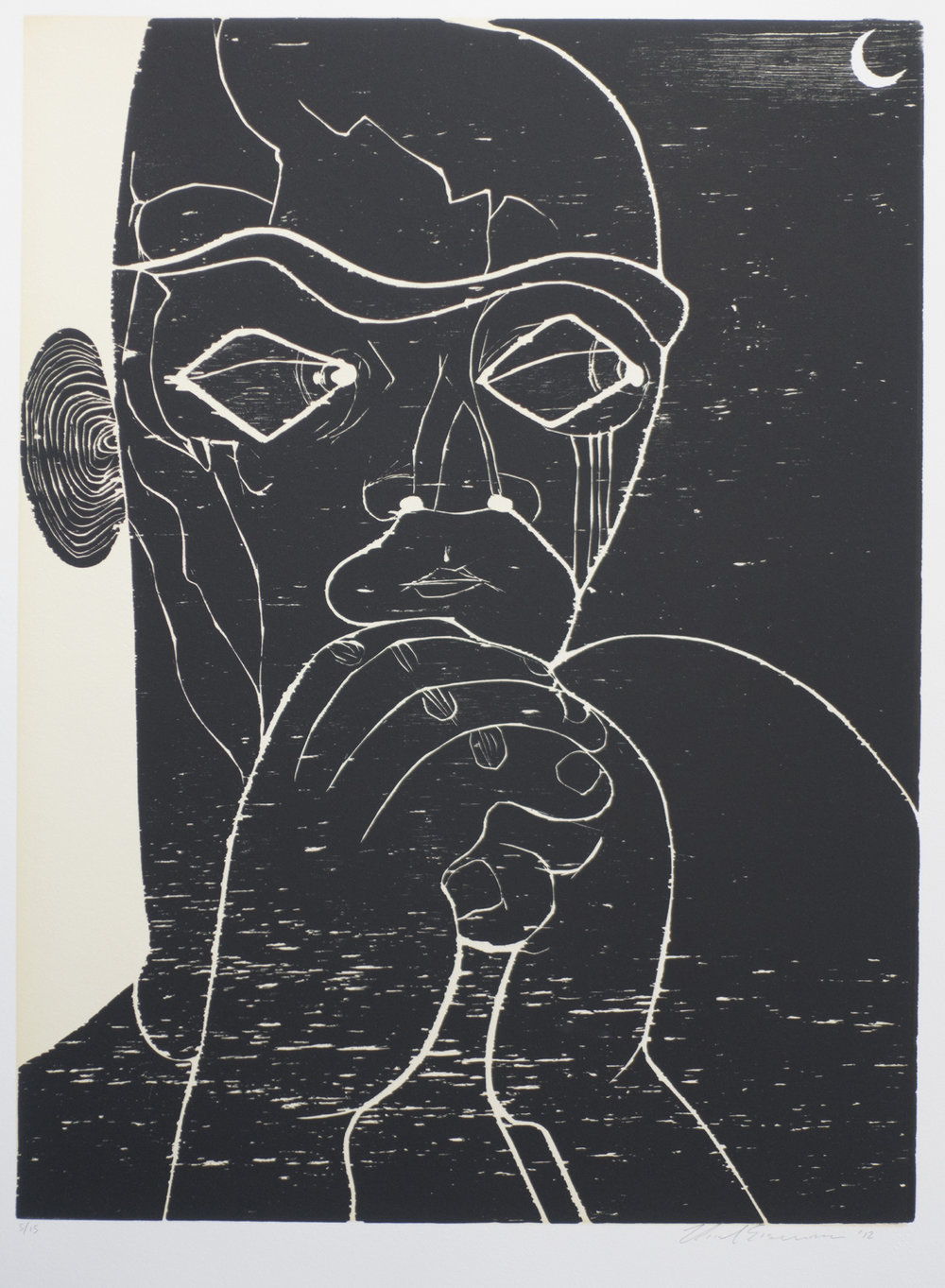 Untitled , 2012 Woodcut Image size: 23.75 x 17.75 inches Paper size: 29.125 x 23.125 inches Edition of 15