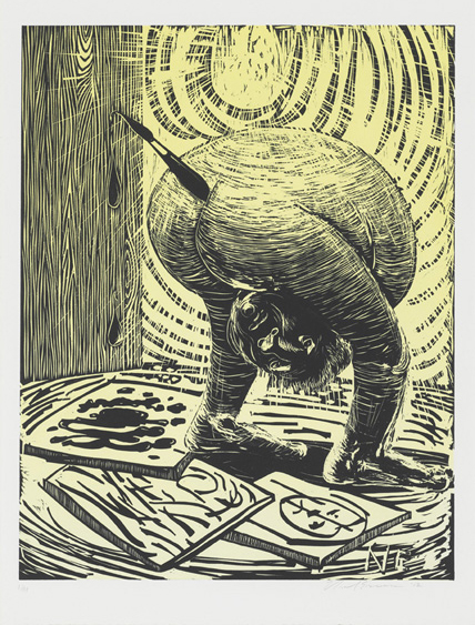 Untitled , 2012 Woodcut Image size: 26 x 20.25 inches Paper size: 30 x 22 inches Edition of 10