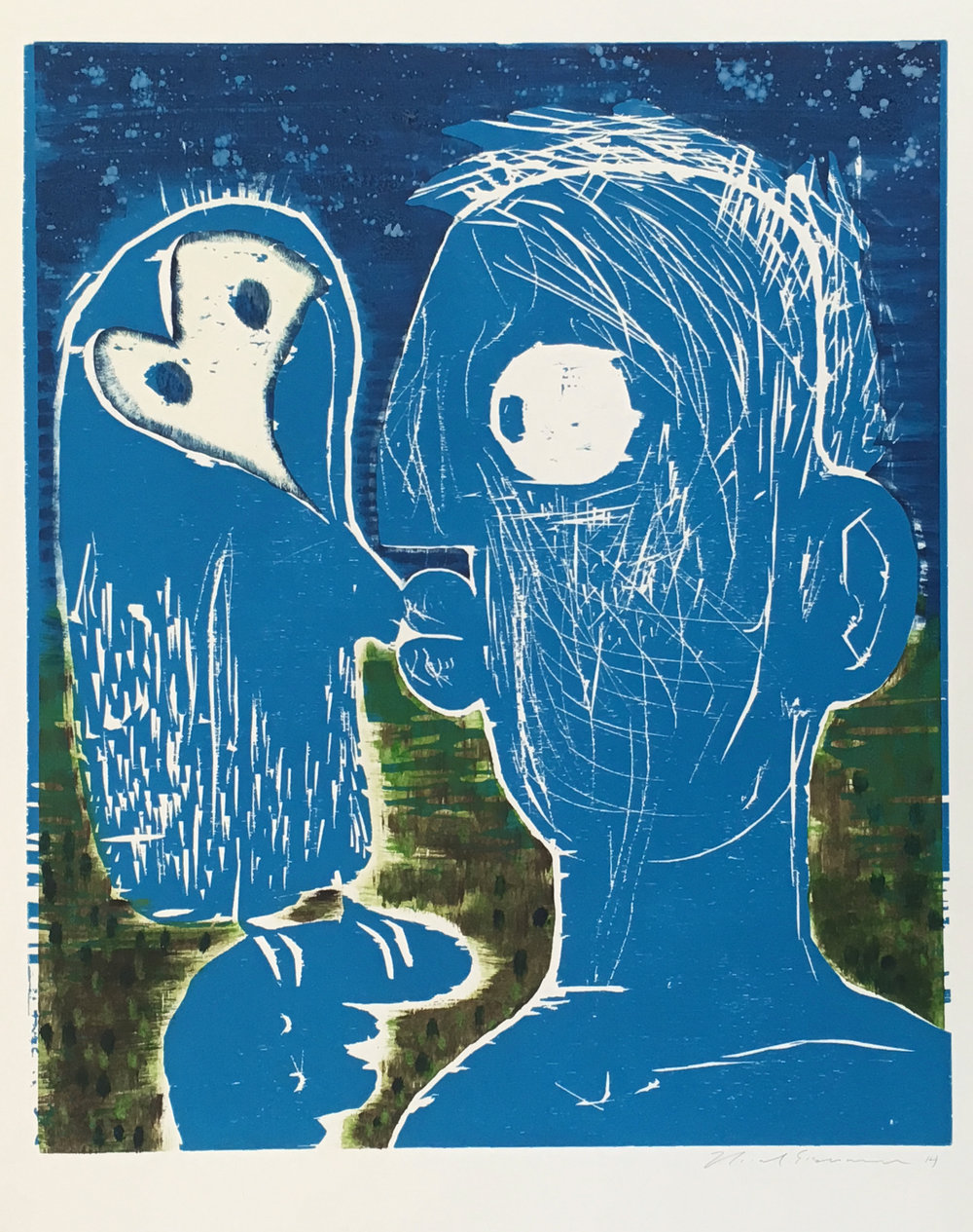 Untitled (IV) , 2014 Monoprint Image size: 23 5/8 x 19 3/4 inches Paper size: 27 5/8 x 23 5/8 inches Series of 8