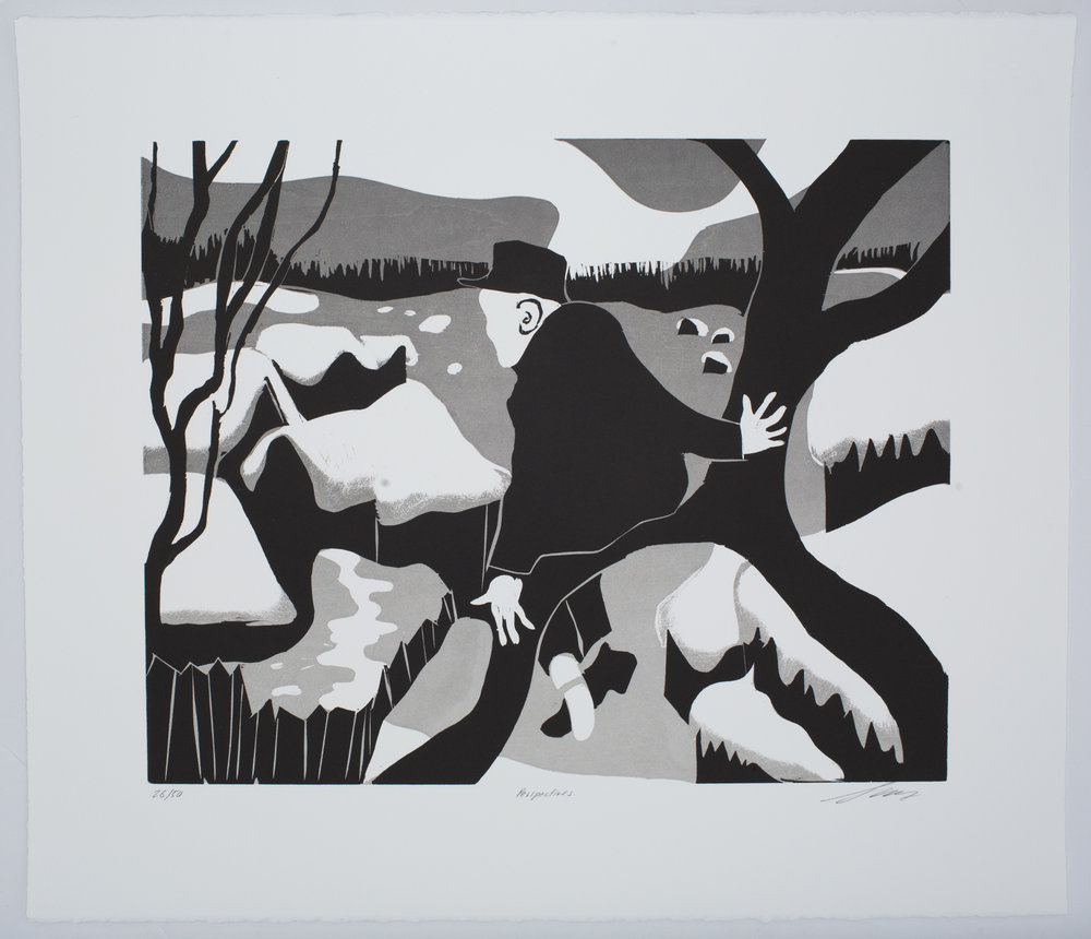 Perspectives , 2016 Woodblock Image Size: 16 x 20 inches Paper Size: 22 x 26 inches Edition of 50