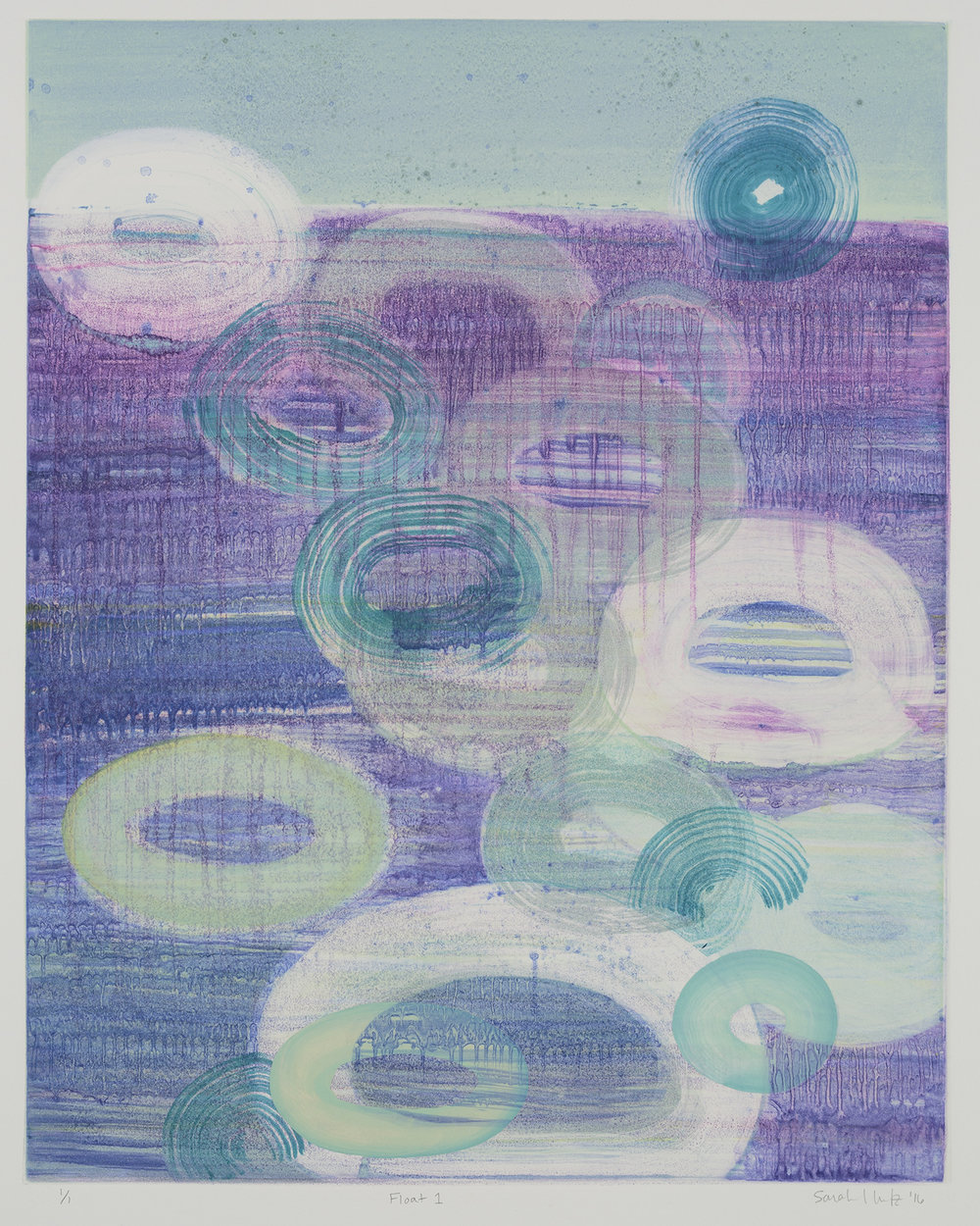 Float (I) , 2016 Monotype Image Size: 20 x 16 inches Paper Size: 30 x 22 inches Series of 8