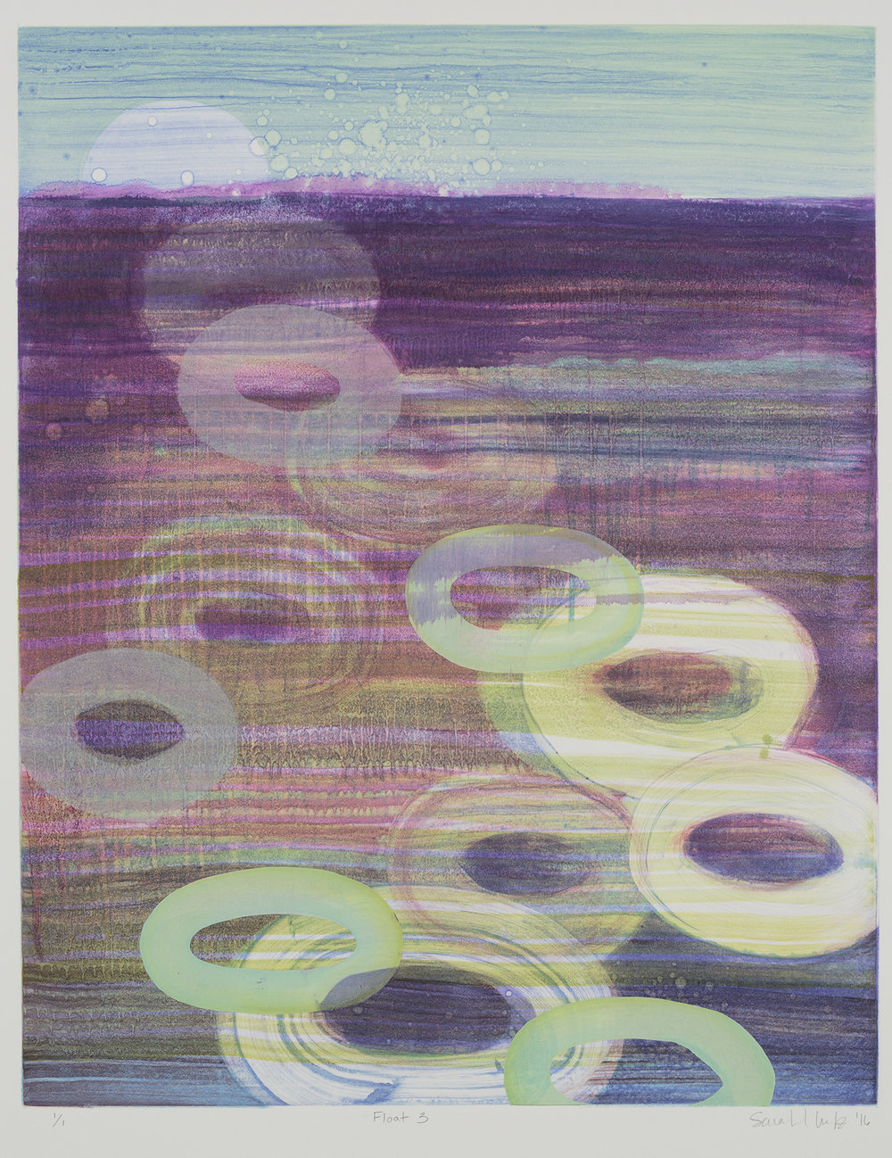 Float (III) , 2016 Monotype Image Size: 20 x 16 inches Paper Size: 30 x 22 inches Series of 8