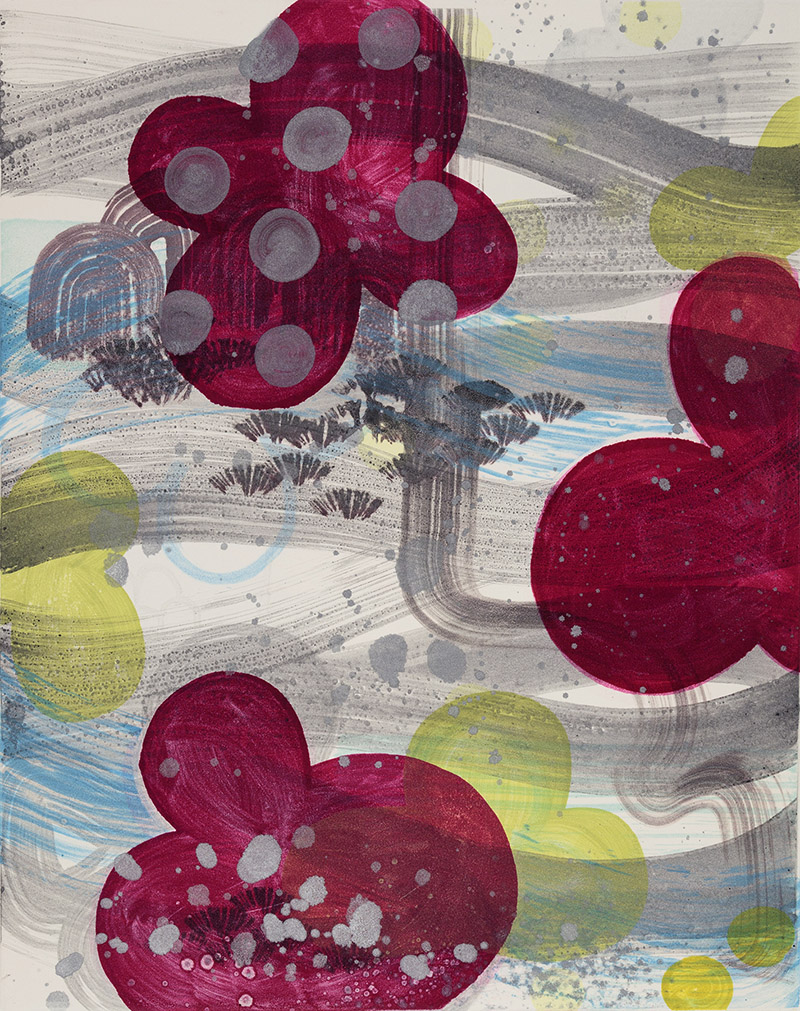 Persephone's Garden (II) , 2015 Monotype Image Size: 20 x 16 inches Paper Size: 30 x 22 inches Series of 12