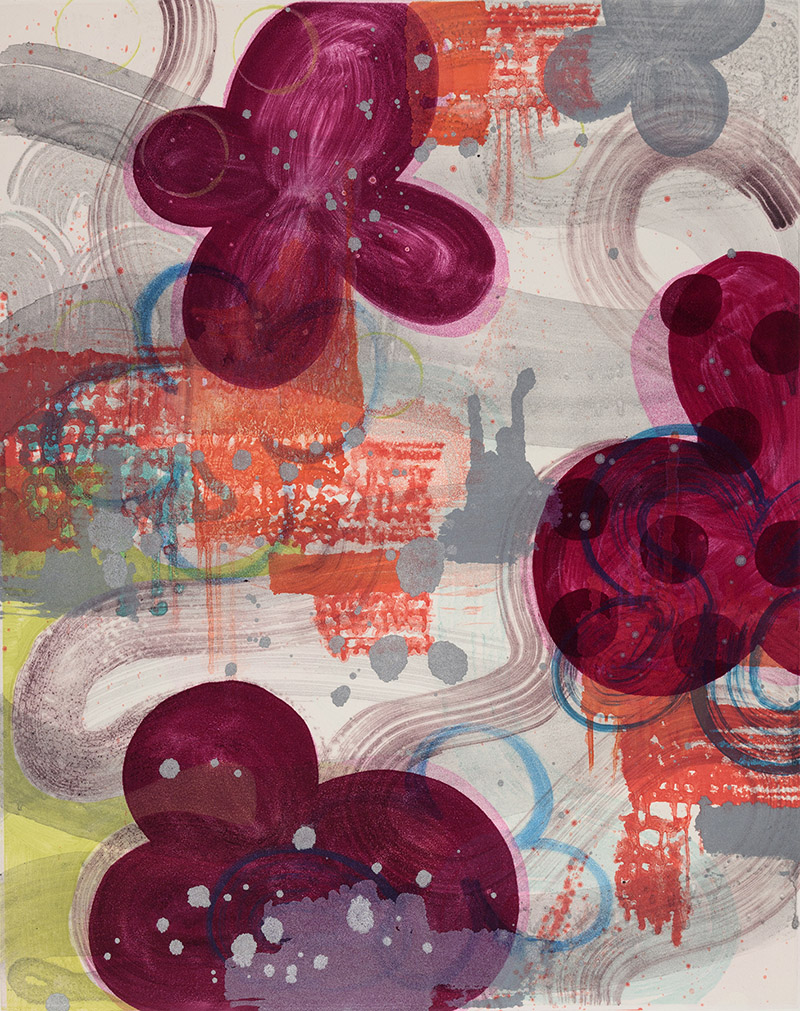 Persephone's Garden (IV) , 2015 Monotype Image Size: 20 x 16 inches Paper Size: 30 x 22 inches Series of 12