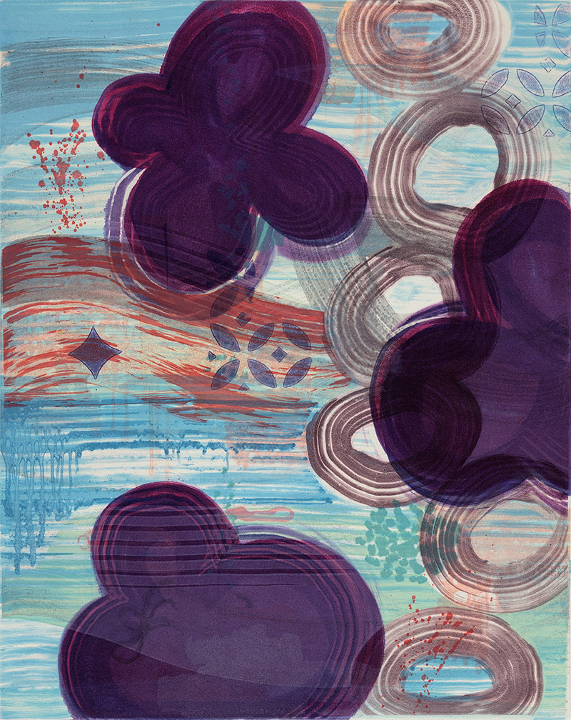 Persephone's Garden (V) , 2015 Monotype Image Size: 20 x 16 inches Paper Size: 30 x 22 inches Series of 12