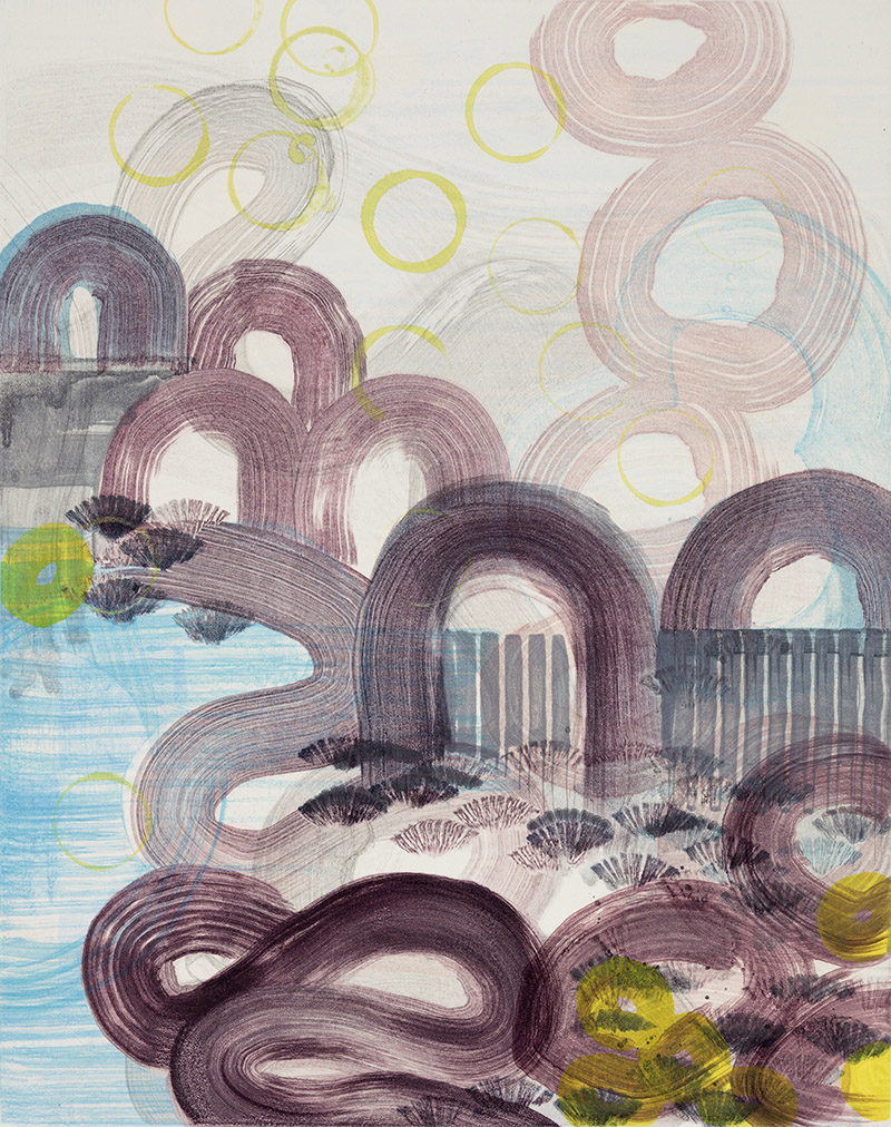 Persephone's Garden (VI) , 2015 Monotype Image Size: 20 x 16 inches Paper Size: 30 x 22 inches Series of 12