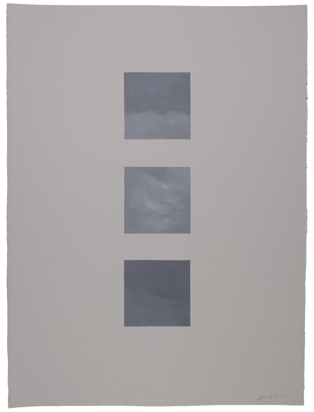 Untitled (X) , 2018 Monotype Image and Paper Size: 30 x 22 inches Series of 15