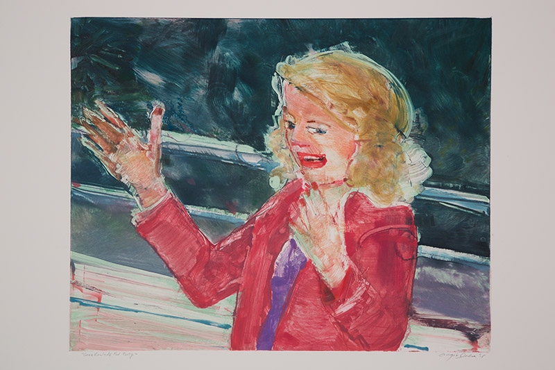 Gena Rowlands Pool Party , 2015 Monotype Image Size: 16 x 20 inches Paper Size: 22 x 30 inches Series of 24