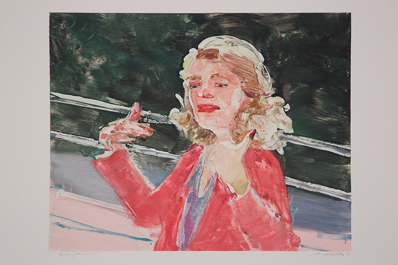 Pool Party Gena Rowlands , 2015 Monotype Image Size: 16 x 20 inches Paper Size: 22 x 30 inches Series of 24