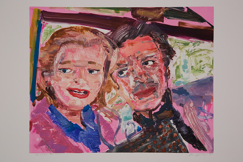 Gena and John Taxi Welcome , 2015 Monotype Image Size: 16 x 20 inches Paper Size: 22 x 30 inches Series of 24