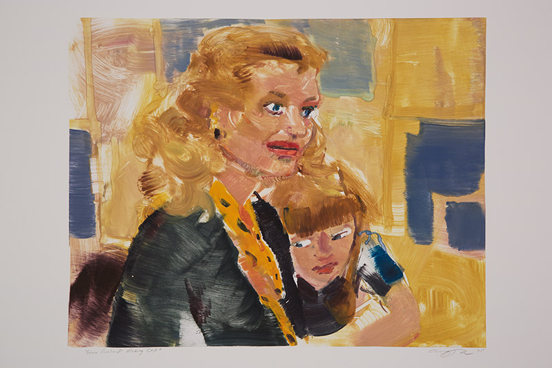 Gena Rowlands Making Case , 2015 Monotype Image Size: 16 x 20 inches Paper Size: 22 x 30 inches Series of 24