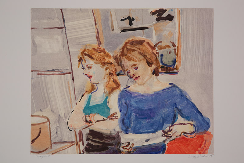 Working Girls (I) , 2015 Monotype Image Size: 16 x 20 inches Paper Size: 22 x 30 inches Series of 24