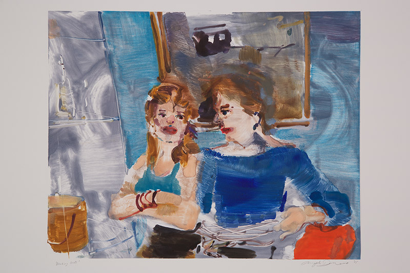 Working Girls (II) , 2015 Monotype Image Size: 16 x 20 inches Paper Size: 22 x 30 inches Series of 24