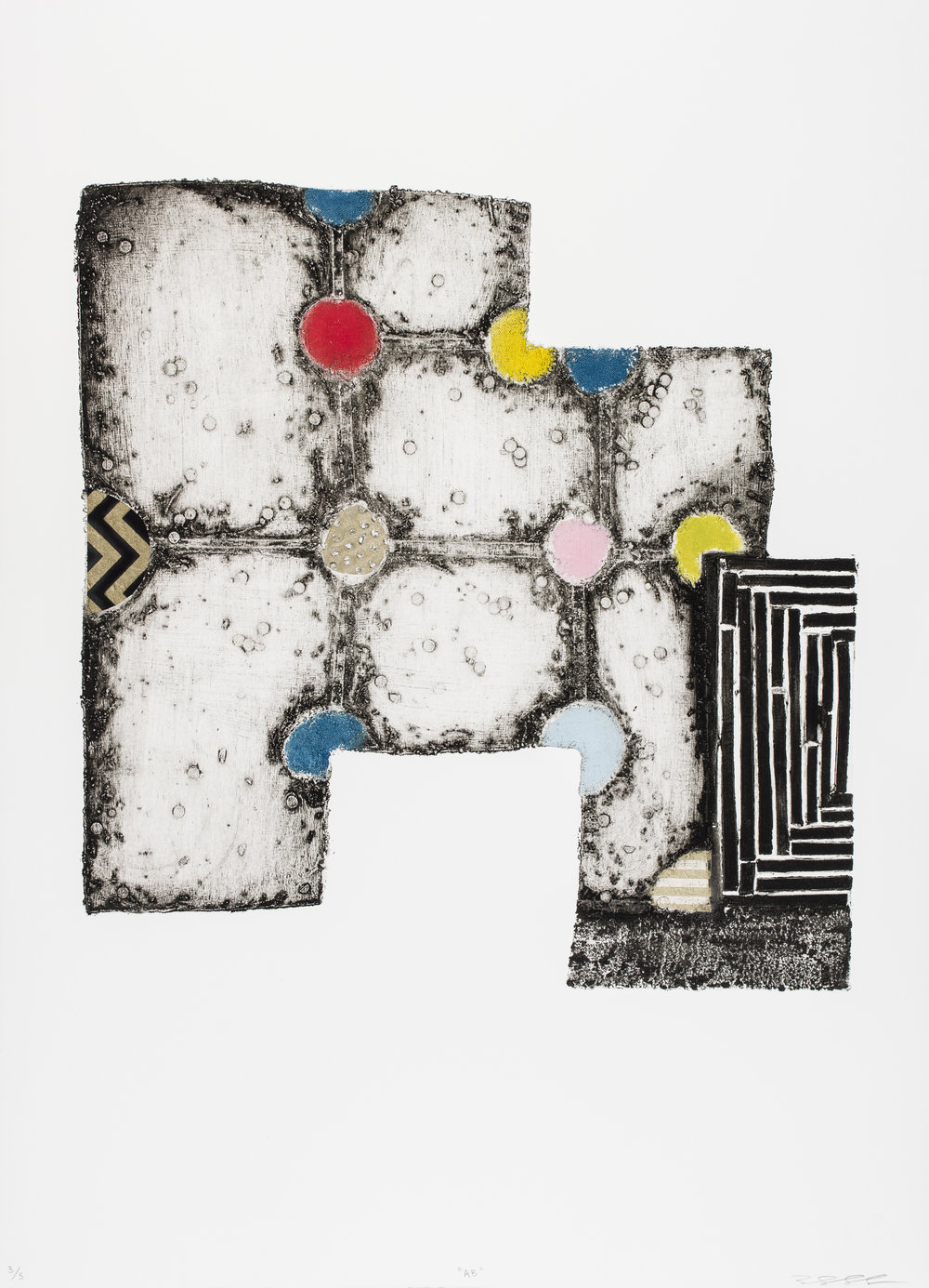 AB , 2015   Collagraph with Chine Collé Image & Paper: 30.7 x 22 inches Edition of 5