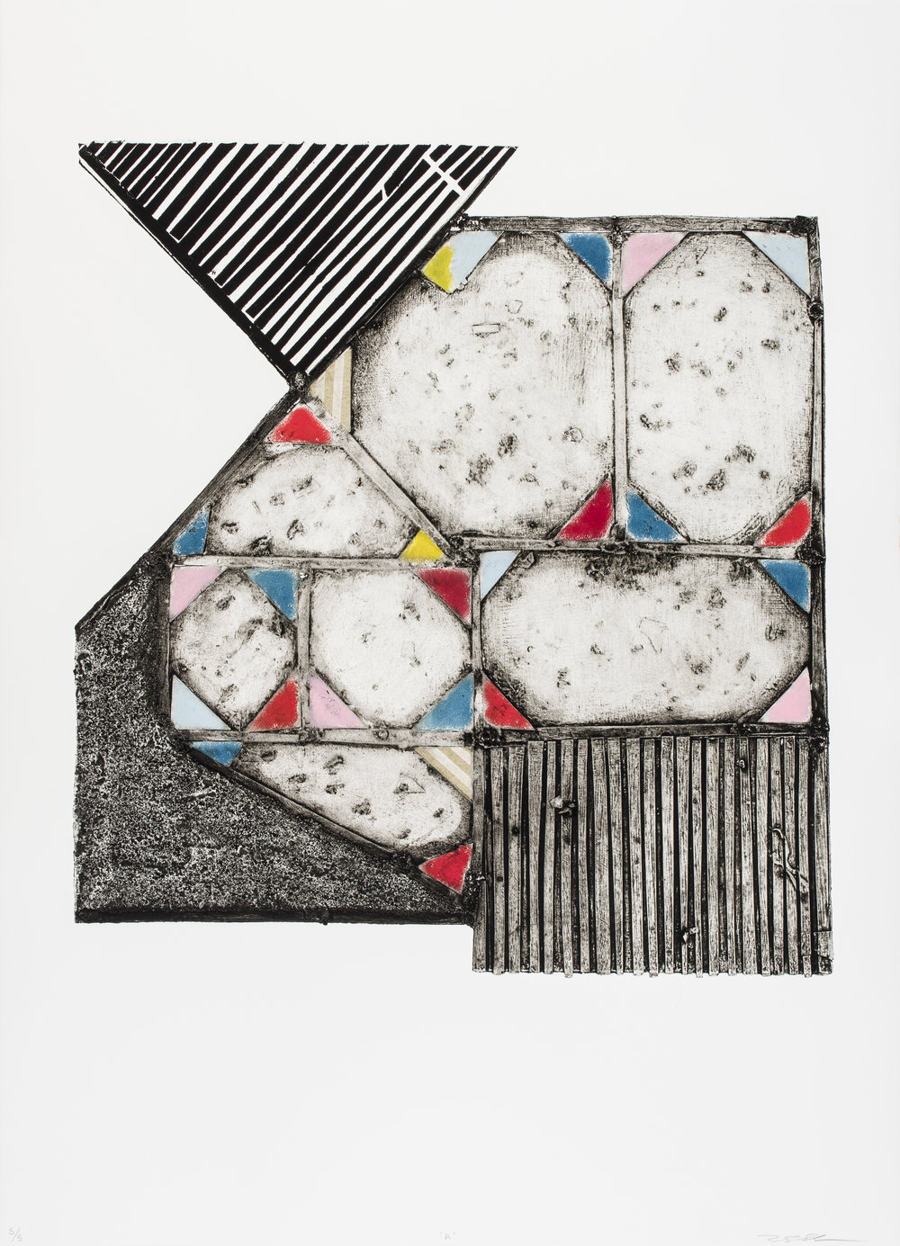 A , 2015   Collagraph with Chine Collé Image & Paper: 30.7 x 22 inches Edition of 5
