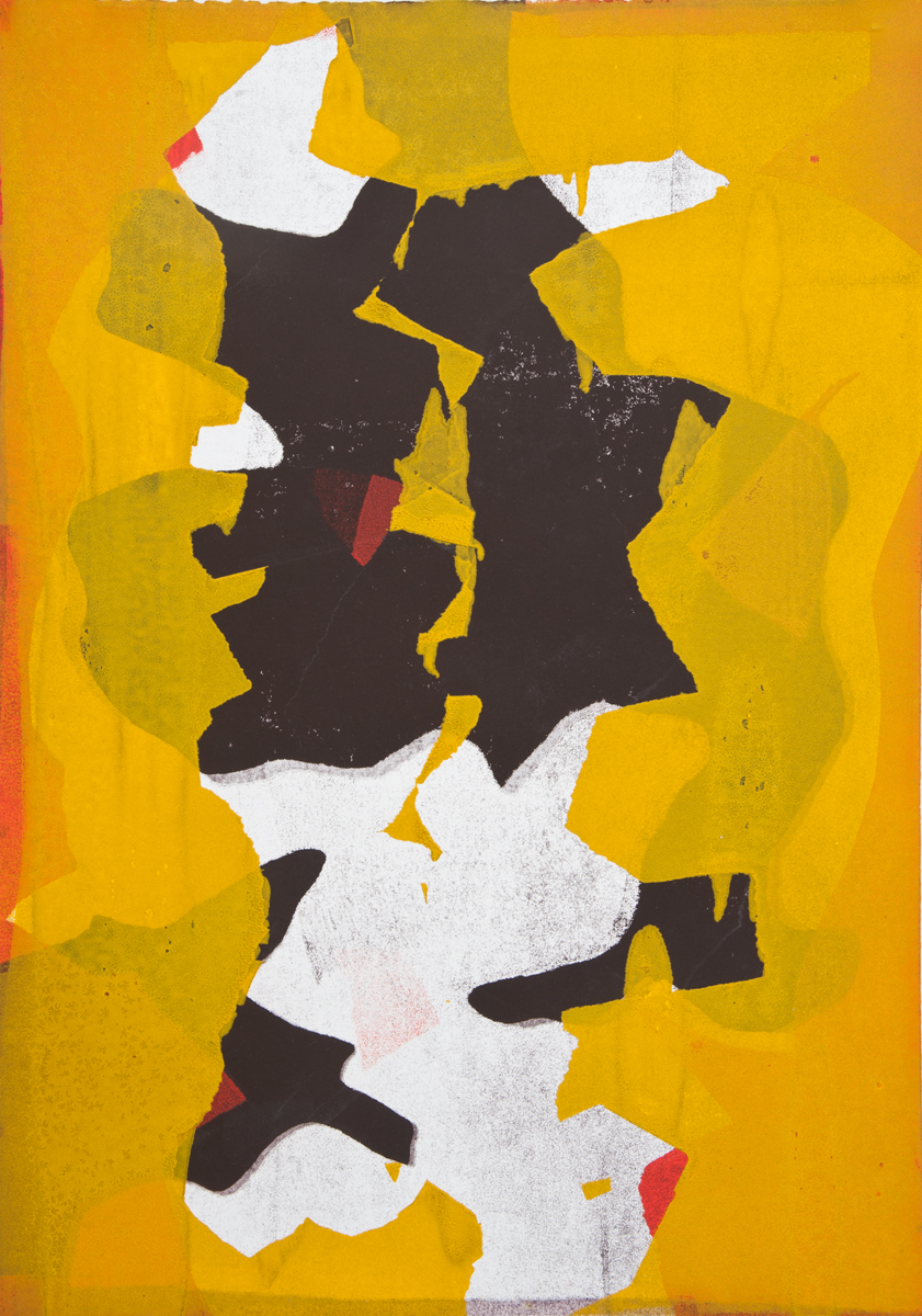 Untitled 1, Tom Vessel Series , 2014 Monotype Image & paper size: 42.5 x 30.25 inches