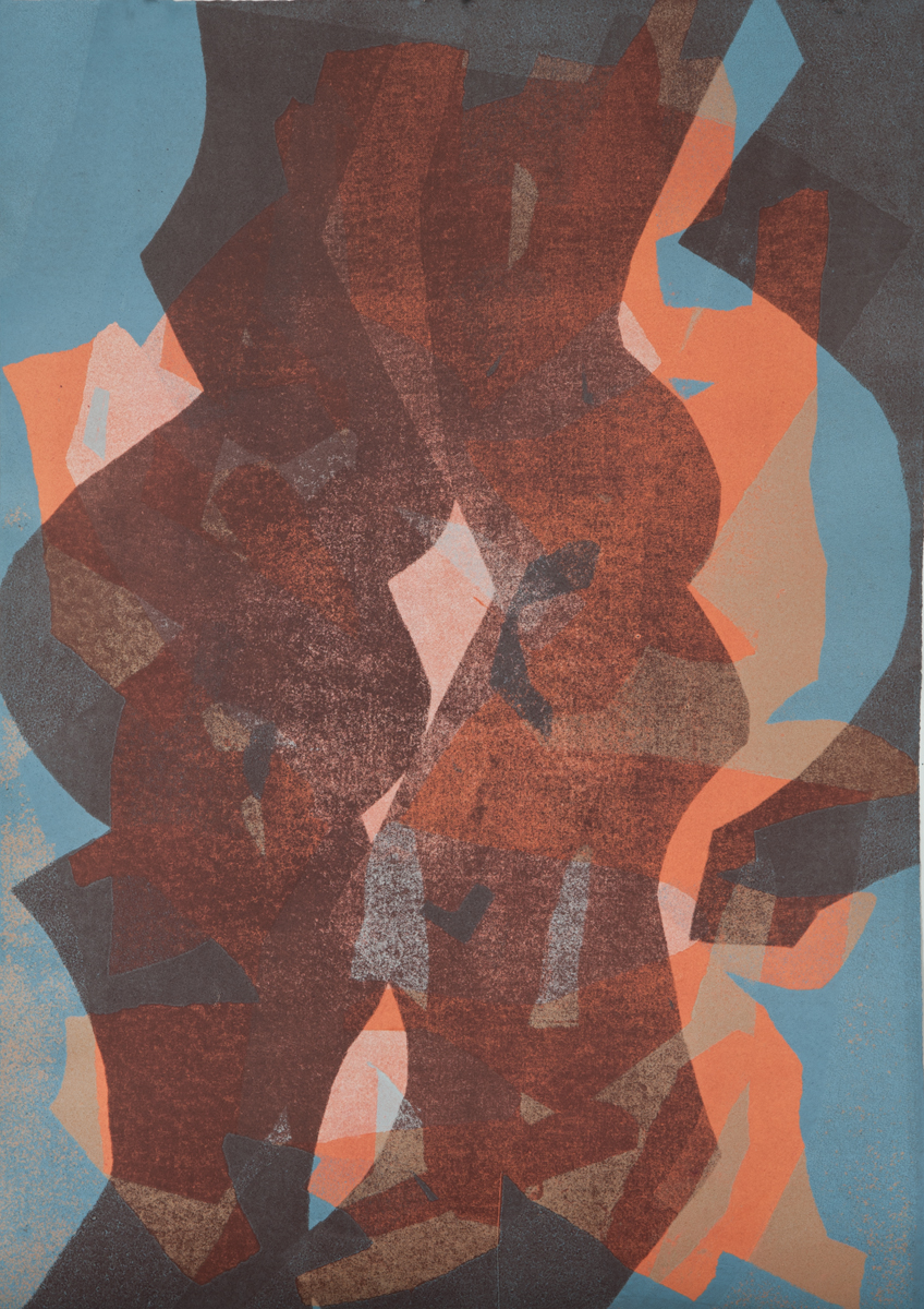 Untitled 2, Tom Vessel Series , 2014 Monotype Image & paper size: 42.5 x 30.25 inches