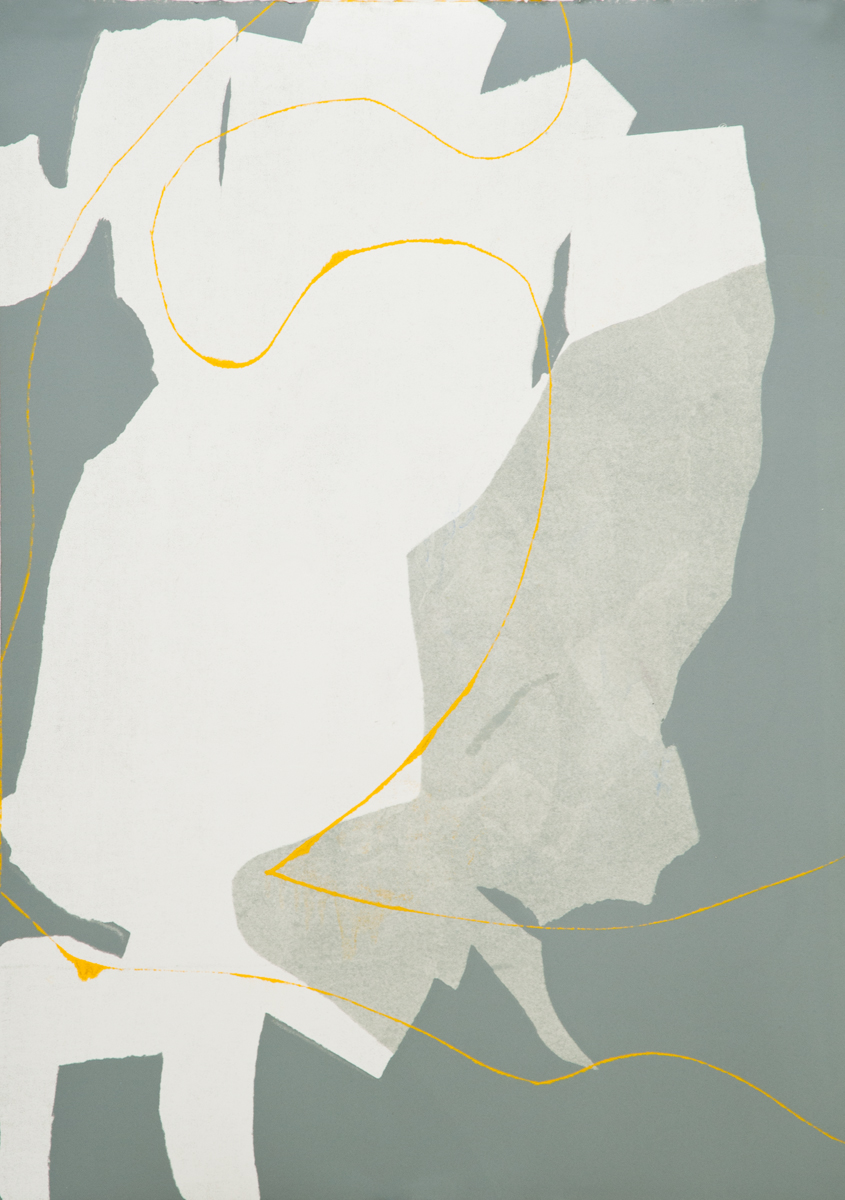 Untitled 6, Tom Vessel Series , 2014 Monotype Image & paper size: 42.5 x 30.25 inches