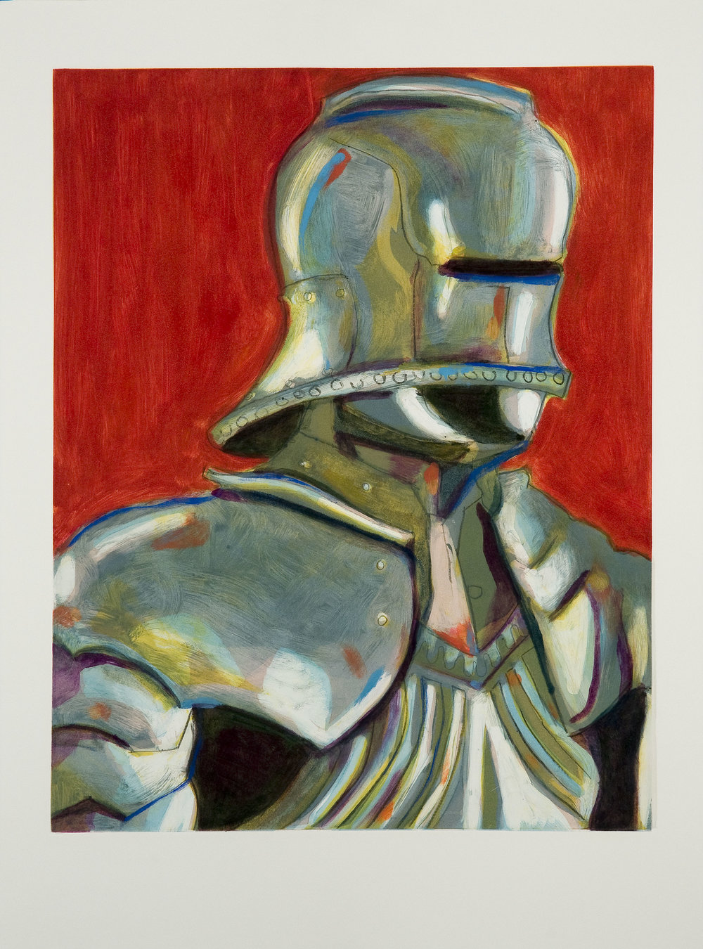 Self Portrait (Armor) (V) , 2008 Monotype Image size: 18.75 x 23.75 inches Paper size: 22 x 30 inches Series of 5