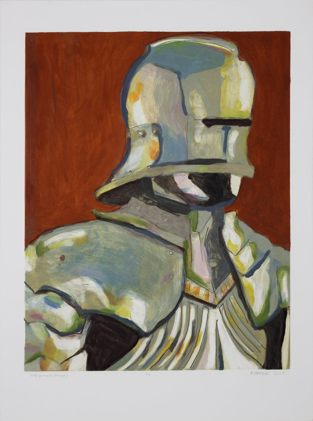 Self Portrait (Armor) (I) , 2008 Monotype Image size: 18.75 x 23.75 inches Paper size: 22 x 30 inches Series of 5