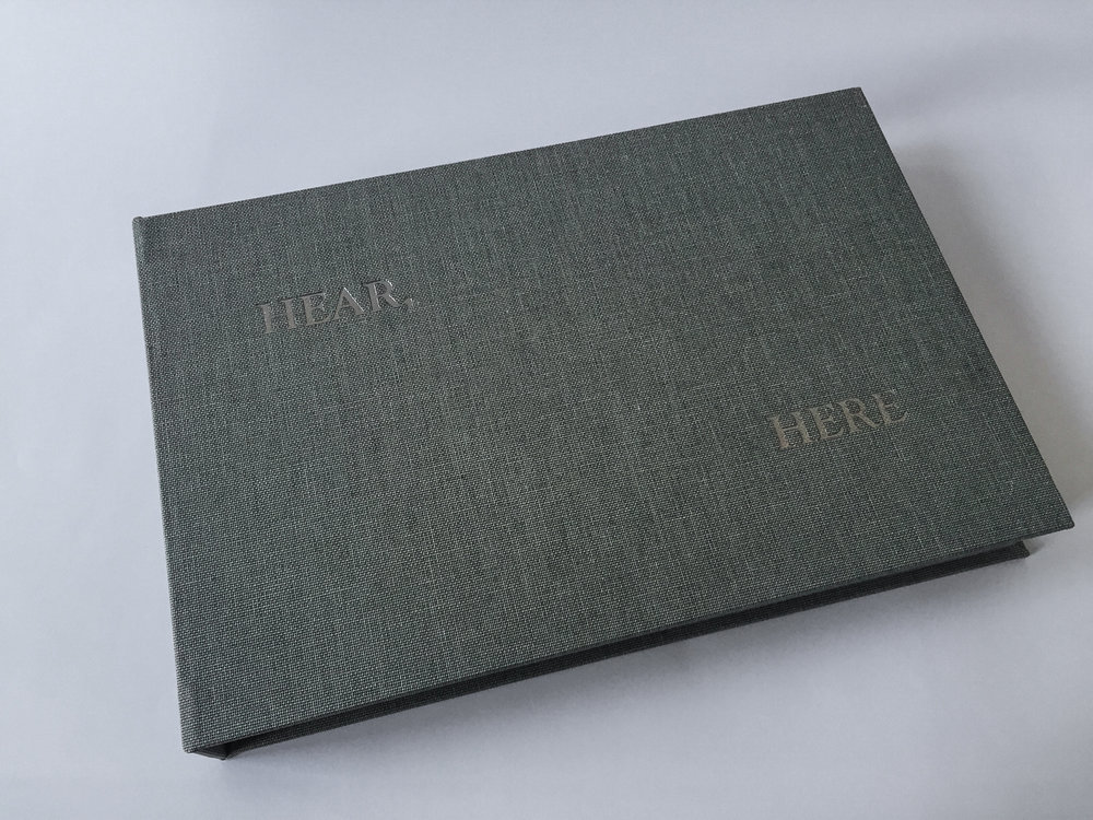 Hear, Here , 2014 Intaglio Image & paper size: 7 x 35.25 inches Edition of 20