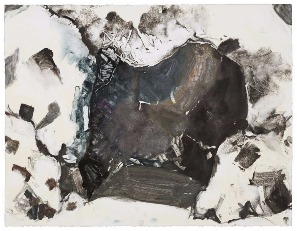 Cave at Pismo (JJ) , 2007 Monotype Image and paper size: 14.75 x 11.25 inches Published by BCA