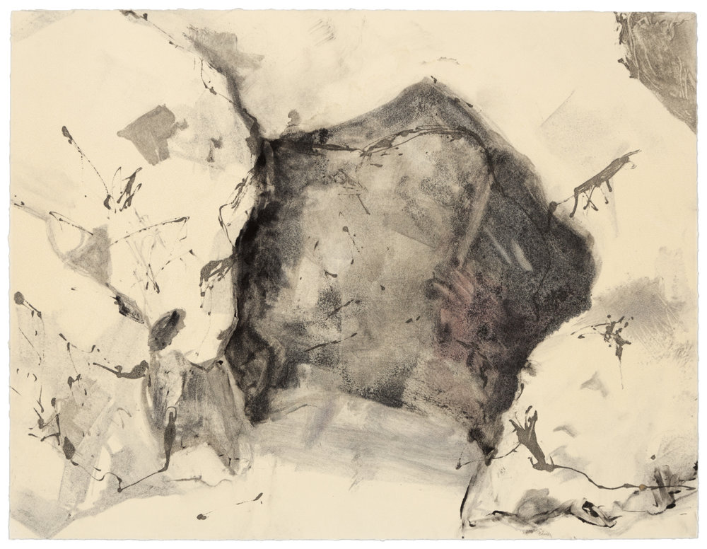 Cave at Pismo (V) , 2007 Monotype Image and paper size: 14.75 x 11.25 inches Published by BCA
