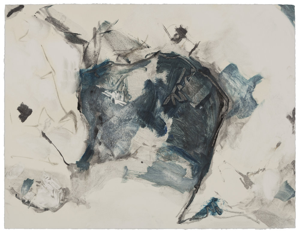 Cave at Pismo (X) , 2007 Monotype Image and paper size: 14.75 x 11.25 inches Published by BCA