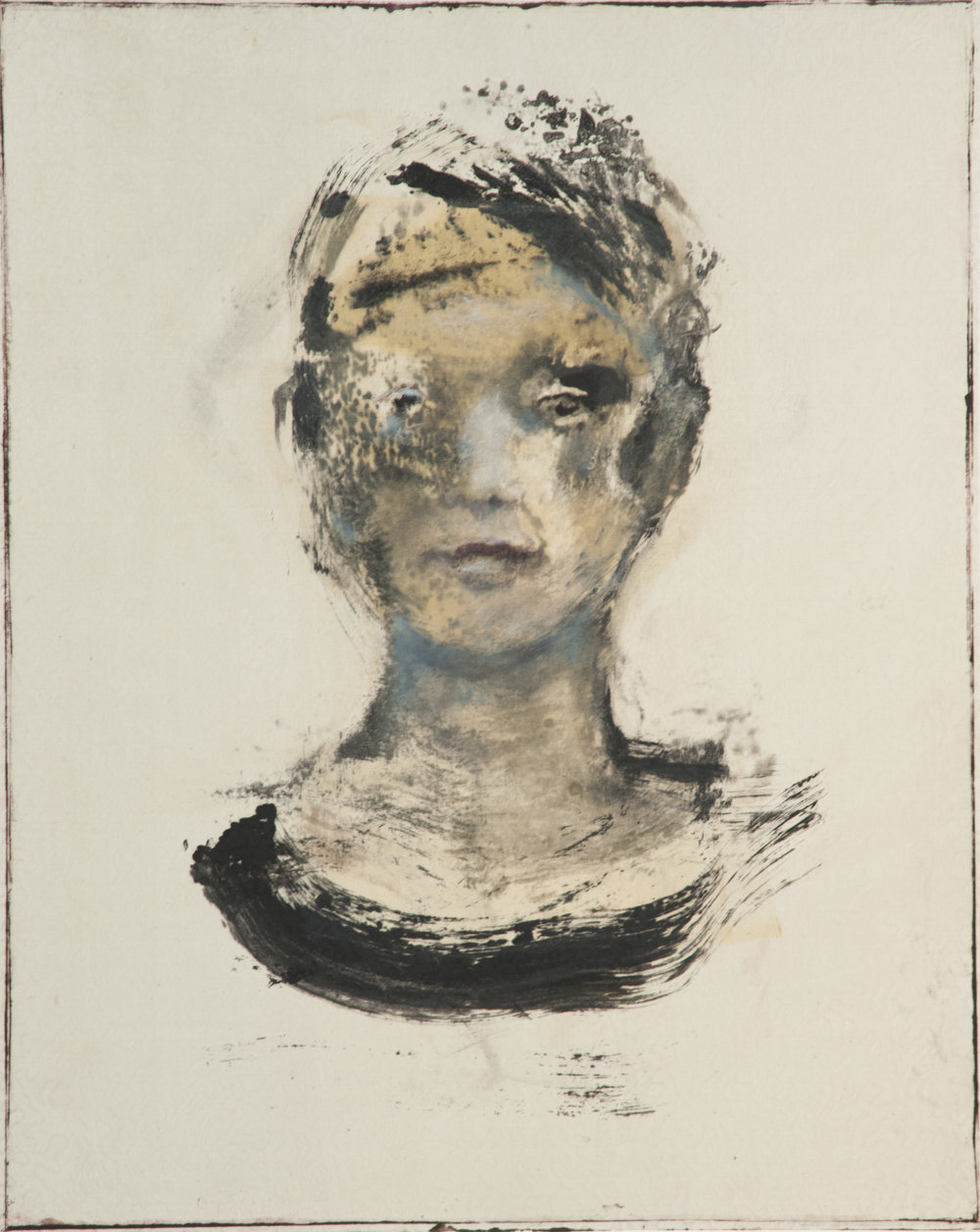 Untitled  Monotype Image size: 16 x 12 inches Paper size: 30 x 22 inches